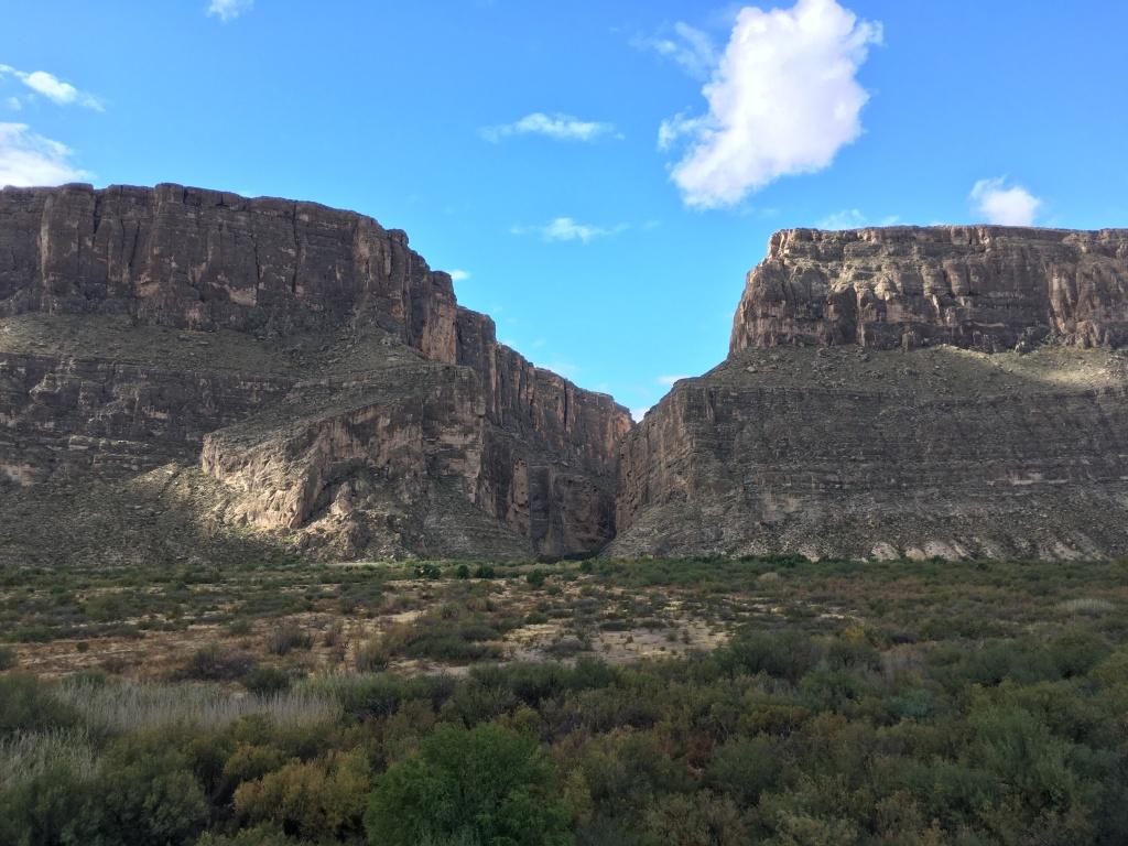 Image of Santa Elena Canyon in Big Bend National Park.